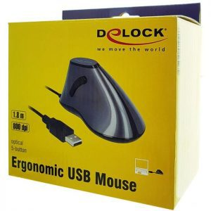 DELOCK Εργονομικό Vertical Mouse, Οπτικό, ενσύρματο, 5 buttons | Συνοδευτικά PC | elabstore.gr