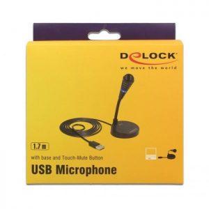 DELOCK USB Μικρόφωνο με βάση και Mute button | Συνοδευτικά PC | elabstore.gr