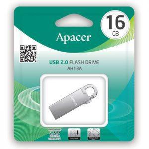 APACER USB Flash Drive AH13A, USB 2.0, 16GB, Silver | Συνοδευτικά PC | elabstore.gr