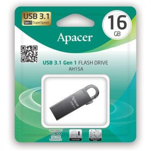 APACER USB Flash Drive AH15A, USB 3.1 Gen1, 16GB, Ashy | Συνοδευτικά PC | elabstore.gr