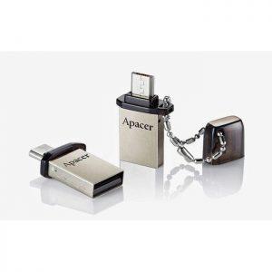 APACER USB Mobile Flash Drive AH175, USB 2.0, 16GB, Black | Συνοδευτικά PC | elabstore.gr