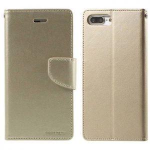MERCURY Θήκη Bravo Diary για iPhone 7 & 8, Gold | Αξεσουάρ κινητών | elabstore.gr