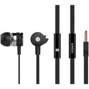 CELEBRAT Earphones με μικρόφωνο D1, on/off, 10mm, 1.2m flat, μαύρα | Αξεσουάρ κινητών | elabstore.gr