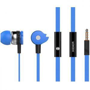 CELEBRAT Earphones με μικρόφωνο D1, on/off, 10mm, 1.2m flat, μπλε | Αξεσουάρ κινητών | elabstore.gr