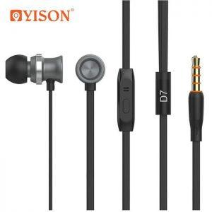 CELEBRAT Earphones με μικρόφωνο D7, on/off, 10mm, 1.2m, μαύρα | Αξεσουάρ κινητών | elabstore.gr