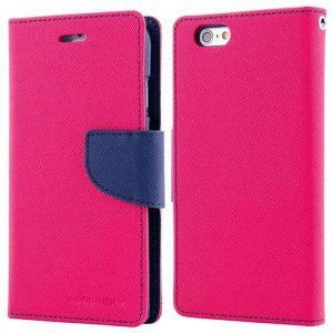 MERCURY Θήκη Fancy Diary για iPhone 7 & 8, Hot Pink/Navy | Αξεσουάρ κινητών | elabstore.gr