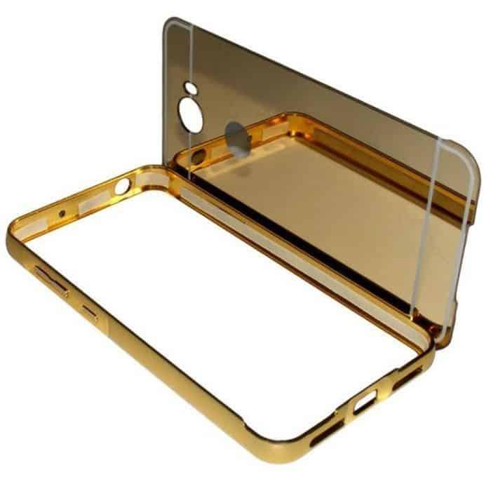 POWERTECH Θήκη Metal Mirror για Huawei Y3II, Gold | Αξεσουάρ κινητών | elabstore.gr