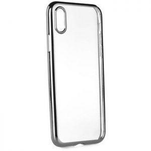 POWERTECH Θήκη Metal TPU για iPhone X, Silver | Αξεσουάρ κινητών | elabstore.gr