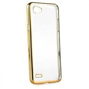 POWERTECH Θήκη Metal TPU για LG Q6, Gold | Αξεσουάρ κινητών | elabstore.gr