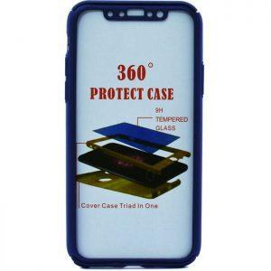 POWERTECH Θήκη Body 360° με Tempered Glass για iPhone X, Blue | Αξεσουάρ κινητών | elabstore.gr