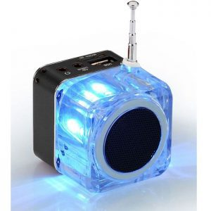POWERTECH Speaker, Portable, FM Radio, 3W, Led Screen, Black | Συνοδευτικά PC | elabstore.gr
