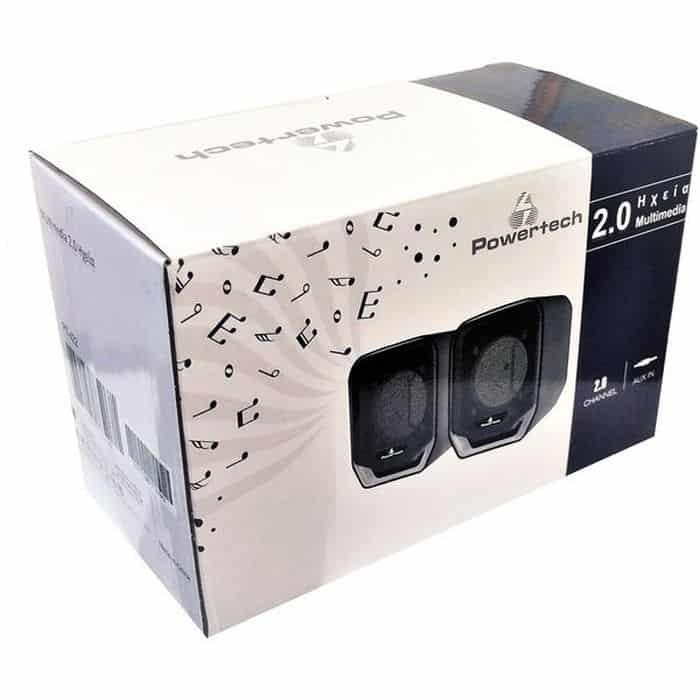POWERTECH Multimedia Ηχεία PT-422, 2.0 channel, 2x 3W, USB, Aux in | Συνοδευτικά PC | elabstore.gr