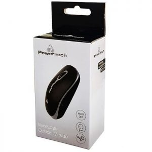 POWERTECH Ασύρματο ποντίκι, Οπτικό, 1600DPI, Μαύρο-Γκρι | Συνοδευτικά PC | elabstore.gr