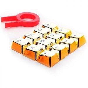 REDRAGON πλήκτρα για Cherry MX μηχανικό πληκτρολόγιο A103, 12τμχ, χρυσά | Συνοδευτικά PC | elabstore.gr