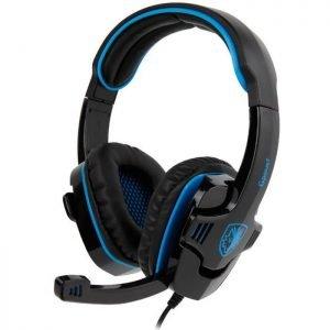 SADES Gaming Headset Gpower με 40mm πανίσχυρα ακουστικά, Blue | Συνοδευτικά PC | elabstore.gr