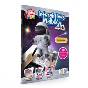 PUKKA FUN Βιβλίο ζωγραφικής 4D επαυξημένης πραγματικότητας, Space | Παιχνίδια | elabstore.gr