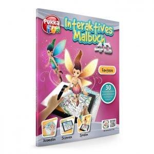 PUKKA FUN Βιβλίο ζωγραφικής 4D επαυξημένης πραγματικότητας, Fantasy   Παιχνίδια   elabstore.gr