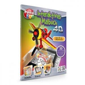 PUKKA FUN Βιβλίο ζωγραφικής 4D επαυξημένης πραγματικότητας, Race Day   Παιχνίδια   elabstore.gr