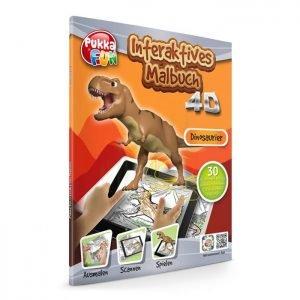 PUKKA FUN Βιβλίο ζωγραφικής 4D επαυξημένης πραγματικότητας, Dinosaurs | Παιχνίδια | elabstore.gr
