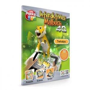 PUKKA FUN Βιβλίο ζωγραφικής 4D επαυξημένης πραγματικότητας Animal Babies   Παιχνίδια   elabstore.gr