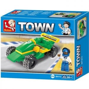 SLUBAN Τουβλάκια Town, Racing Car M38-B0172, 63τμχ | Παιχνίδια | elabstore.gr