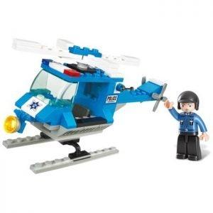 SLUBAN Τουβλάκια Town, Police Helicopter M38-B0175, 85τμχ | Παιχνίδια | elabstore.gr