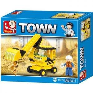 SLUBAN Τουβλάκια Town, Excavator M38-B0176, 62τμχ | Παιχνίδια | elabstore.gr