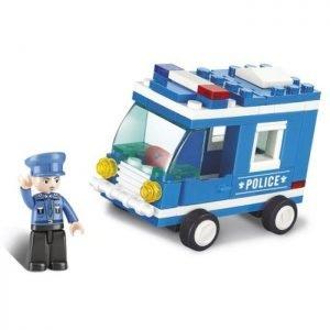 SLUBAN Τουβλάκια Town, Police Van M38-B0177, 64τμχ | Παιχνίδια | elabstore.gr