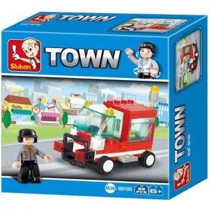 SLUBAN Τουβλάκια Town, Service Vehicle M38-B0180, 68τμχ | Παιχνίδια | elabstore.gr
