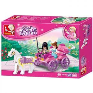 SLUBAN Τουβλάκια Girls Dream, Princess Carriage M38-B0239, 99τμχ | Παιχνίδια | elabstore.gr