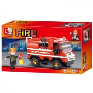 SLUBAN Τουβλάκια Fire, Fire Truck M38-B0276, 133τμχ | Παιχνίδια | elabstore.gr