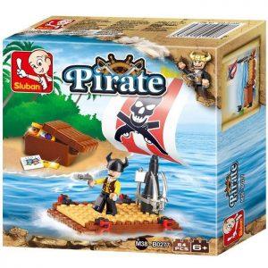 SLUBAN Τουβλάκια Pirate, Pirate Raft M38-B0277, 64τμχ | Παιχνίδια | elabstore.gr