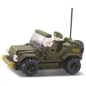SLUBAN Τουβλάκια Army, Jeep M38-B0296, 121τμχ | Παιχνίδια | elabstore.gr