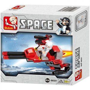 SLUBAN Τουβλάκια Space, Space Bomber M38-B0321, 72τμχ | Παιχνίδια | elabstore.gr