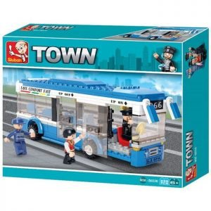 SLUBAN Τουβλάκια Town, City Bus M38-B0330, 235τμχ | Παιχνίδια | elabstore.gr