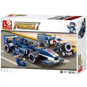 "SLUBAN Τουβλάκια 1:32  Racing Car ""Blue Lightning"" M38-B0351, 196τμχ | Παιχνίδια | elabstore.gr"
