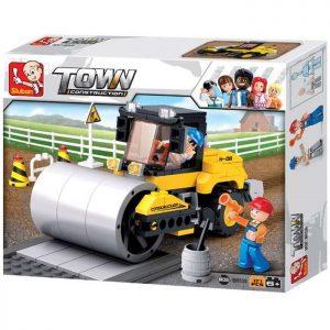 SLUBAN Τουβλάκια Town, Road Roller M38-B0539, 171τμχ | Παιχνίδια | elabstore.gr
