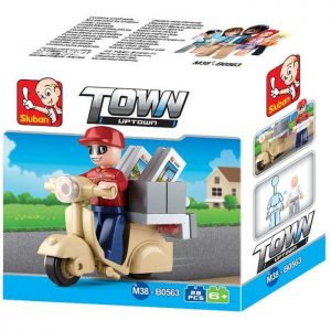 SLUBAN Τουβλάκια Town, Courier M38-B0563, 28 τμχ | Παιχνίδια | elabstore.gr