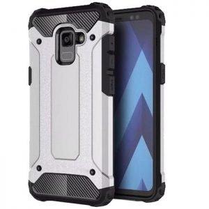POWERTECH θήκη Hybrid Protect για Samsung Galaxy A8 2018, ασημί | Αξεσουάρ κινητών | elabstore.gr