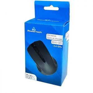 POWERTECH Ασύρματο ποντίκι, Οπτικό, 1600DPI, μαύρο | Συνοδευτικά PC | elabstore.gr