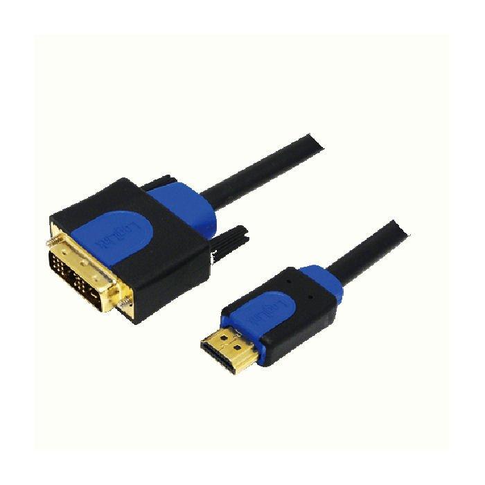 Cable HDMI/DVI Retail 10m Logilink CHB3110   HDMI - DVI CABLES   elabstore.gr