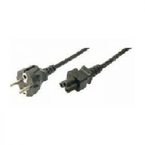 Cable Power Cord Schuko-C5 1.8m Bulk Logilink CP093 | POWER CABLES | elabstore.gr