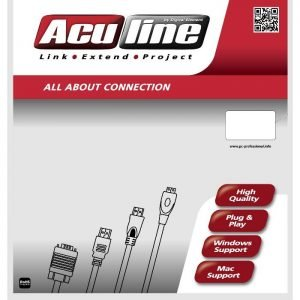 Cable USB M/F 3m Aculine USB-002 | USB CABLES | elabstore.gr