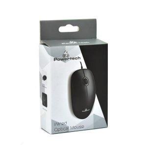 POWERTECH Ενσύρματο ποντίκι, Οπτικό, 1000DPI, USB, μαύρο | Συνοδευτικά PC | elabstore.gr