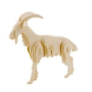 ROWOOD Ξύλινο 3D πάζλ κατσίκα JP214, 28τμχ | Παιχνίδια | elabstore.gr