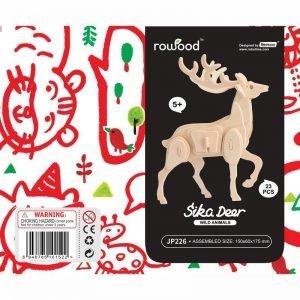 ROWOOD Ξύλινο 3D πάζλ ελάφι JP226, 23τμχ | Παιχνίδια | elabstore.gr