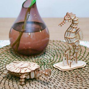 ROLIFE Ξύλινο 3D πάζλ χελώνα TG275, 63τμχ | Παιχνίδια | elabstore.gr