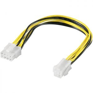 51358 PC Power supply cable 8 Pin plug -> P4 4 pin jack | ΚΑΛΩΔΙΑ / ADAPTORS | elabstore.gr