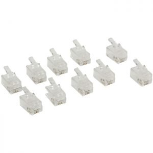 VLTP90913T Connector RJ10 male 10pcs | ΚΑΛΩΔΙΑ / ADAPTORS | elabstore.gr