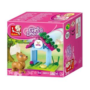 SLUBAN Τουβλάκια Girls Dream, Dog House M38-B0513, 18τμχ | Παιχνίδια | elabstore.gr